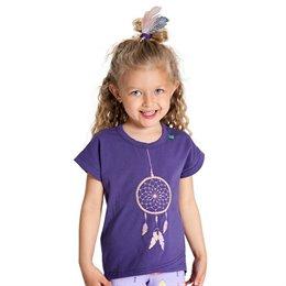 Mädchen Traumfänger Shirt lila