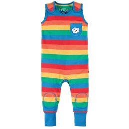 Baby Stampler kurzarm Regenbogen