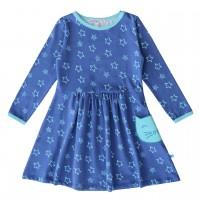 Jerseykleid Sternen-Druck in dunkelblau