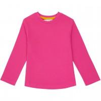 Robustes Langarmshirt uni in pink