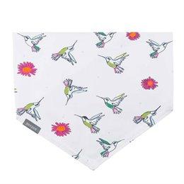 Elastischen Halstuch zum Binden weiss Kolibri