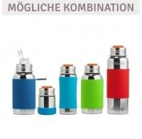 Vorschau: Thermo Sportflasche Flasche 260 ml ab 2 - open end blau swirl