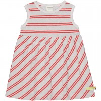 Flatter Kleid Leinen ohne Arm grau
