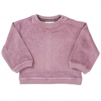 Mädchen Frottee Sweatshirt in rosenholz