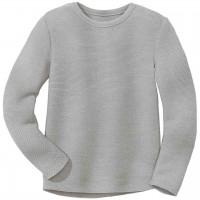 Weicher Linksstrick-Pullover grau