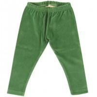 Warme Velour Leggings in grün