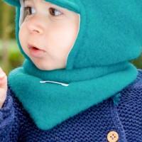 Winter Halstuch Woll Fleece zum Wenden türkis