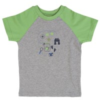 Kurzarm Shirt für Pfanfinder grau grün