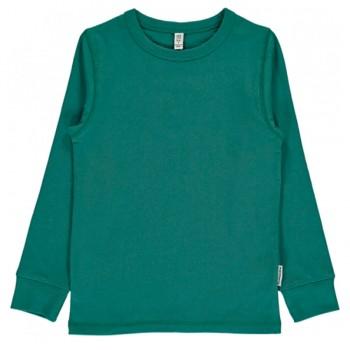 Uni Langarmshirt grün-petrol