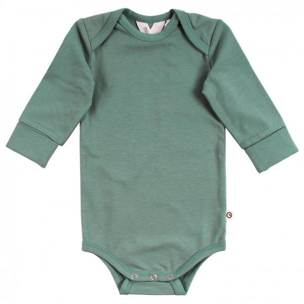 Hochwertiger Body langarm pastell-grün