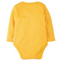 Vorschau: Bio Baby Body dicker gelb Punkte