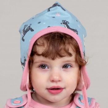 Babymütze gefüttert mit Ohrenschutz Nicki Rentiere