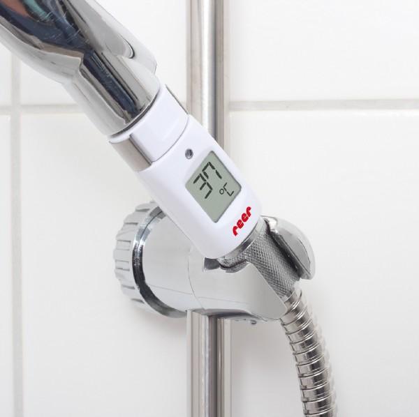 Bade- und Duschthermometer mit optischem & akustischem Alarm