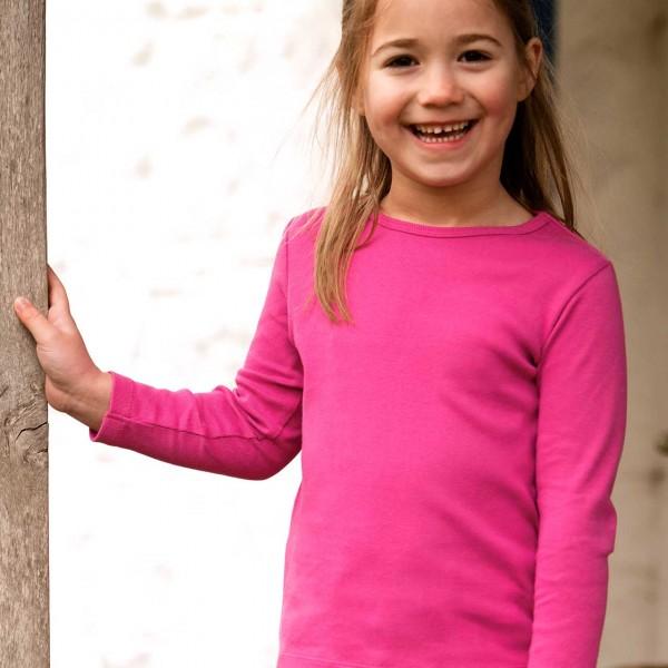 Uni Langarmshirt in pink