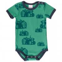 Sommerlicher Body kurzarm Traktoren grün