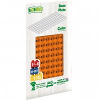 Bauplatte für Stecksteine – Basisplatte orange 15x30 cm