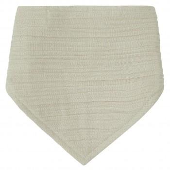 Musselin Dreiecktuch in beige-grau