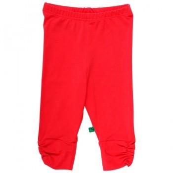 Knielange Sommer Leggings rot-orange