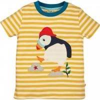 T-Shirt Papageitaucher Aufnäher gelb