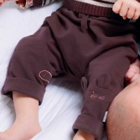 Baby Jogginghose Mäuschen pflaume