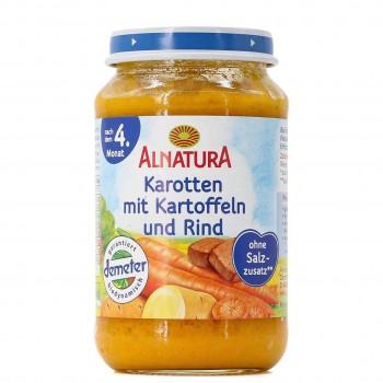 Karotten, Kartoffeln & Rind Brei nach 4 Monaten (190g)