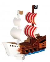 Vorschau: Bestseller! Großes Piratenschiff zum Stecken, malen & spiele