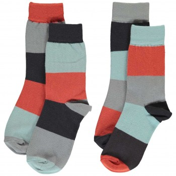Socken im Block-Design Doppelpack