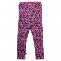 Pinke Leggings im Leoparden-Look