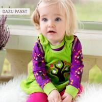 Vorschau: Body langarm lila grün