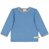 Blaues Langarmshirt - dickeres Jersey