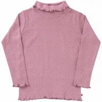 Rollkragenshirt langarm Punkte in rosa