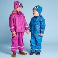 Mädchen Regenbekleidung Sterne pink-violet