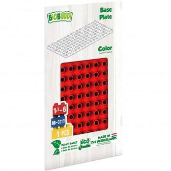 Bauplatte für Stecksteine – Basisplatte rot 15x30 cm