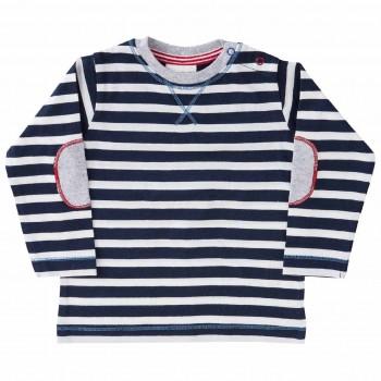 Shirt luftig leicht navy gestreift
