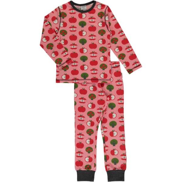 Mädchen Bündchen Schlafanzug Apfel