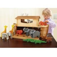 Vorschau: XXL Arche Noah zum Spielen mit 22 Holztieren