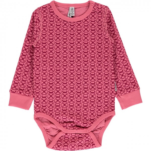 Marienkäfer Body langarm pink