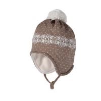 Wintermütze - Mix Wolle, Seide & Biobaumwolle beige