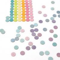 120 Konfettitaler pastell Kindergeburtstags Deko