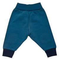 Vorschau: Warme Sweat Babyhose mit softem Leibbund + Kniepats