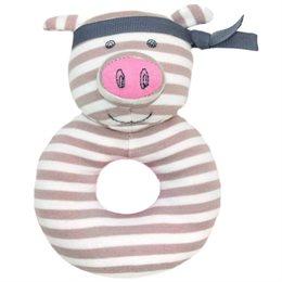 Süße Bio Rassel für Babys - Schweinchen