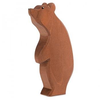 Grosser stehender Bär Holzfigur 15,5 cm hoch