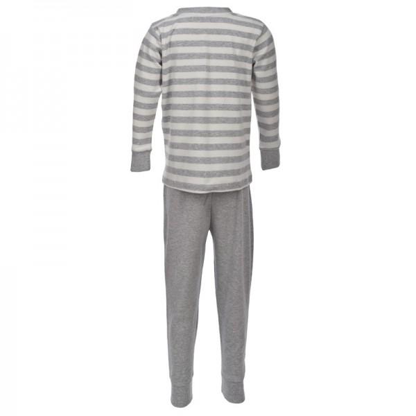 Kuscheliger Schlafanzug Interlock mit Dachs grau