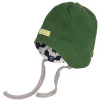 Warme Wendemütze leichter Fleece grün