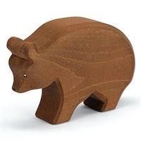 Grosser Bär laufend Holzfigur 8,5 cm hoch