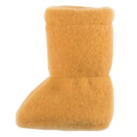 Super warme Babyschuhe als Socke honig
