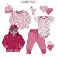 Vorschau: Mädchen Zipfelmütze Hühnchen rosa