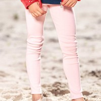 Leichte Ripp Leggings uni in rosé