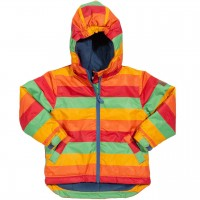 Warme Winterjacke Regenbogen-Design