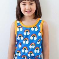 Unterhemd Regenbogen blau